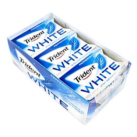 Trident® White Peppermint Sugar-Free Gum, Box Of 9 Packs