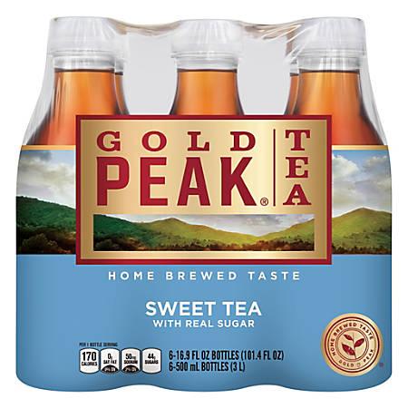 Gold Peak Tea, Sweet, 16.9 Oz, Pack Of 6