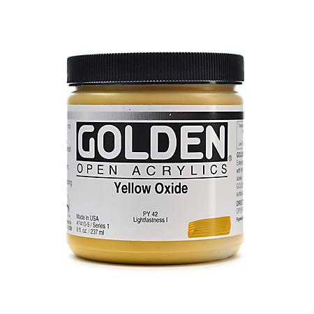 Golden OPEN Acrylic Paint, 8 Oz Jar, Yellow Oxide