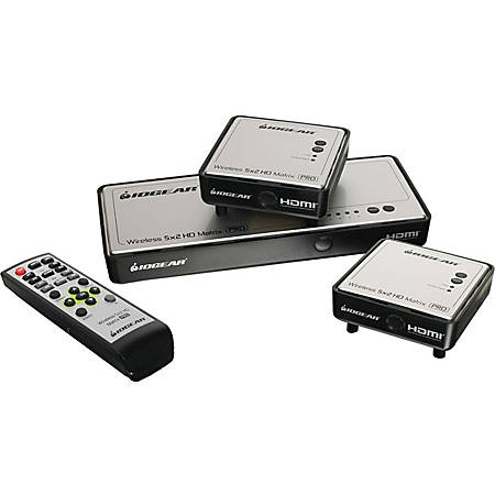 IOGEAR Long Range Wireless 5x2 HDMI Matrix PRO with 1 Additional Receiver