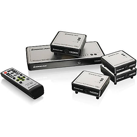 IOGEAR Long Range Wireless 5x2 HDMI Matrix PRO with 3 Additional Receivers - 1920 x 1080 - Full HD - 5 x 5 - 5 x HDMI Out - Component Video In