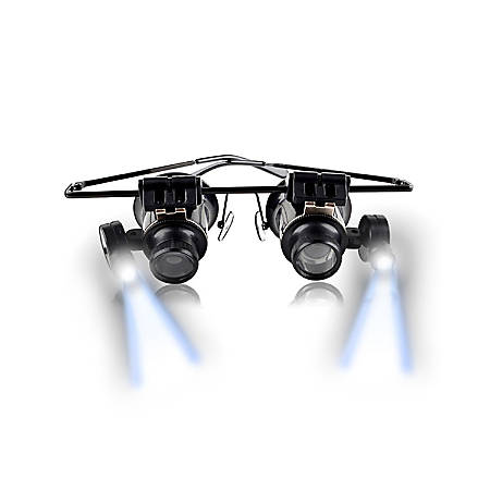 Insten 20X Magnifier Magnifying Glasses Loupe With LED Light, Black