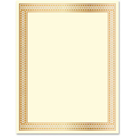 Geographics Traditional Award Certificates - 24 lb - Laser, Inkjet Compatible - Gold100 / Pack