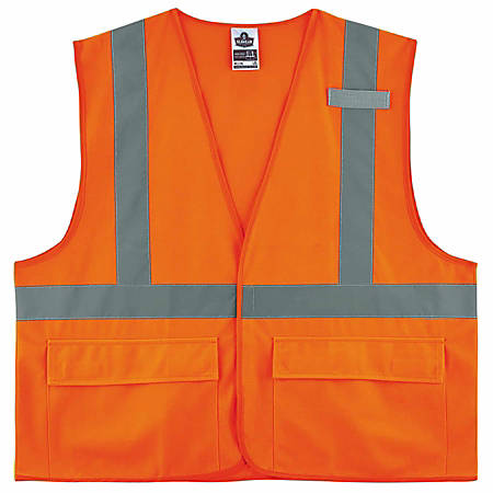 Ergodyne GloWear® Safety Vest, 8225HL, Type R Class 2, 2X/3X, Orange