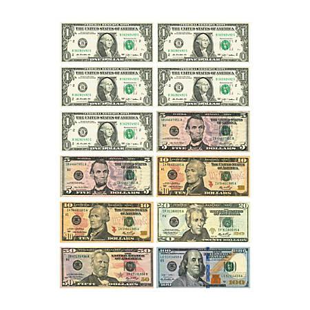 Ashley US Dollar Bill Set Die-cut Magnets - 12 (Bill) Shape - Magnetic - $1, $5, $10, $20, $50, $100 - Die-cut, Durable, Damage Resistant, Long Lasting - Multicolor - 1 Set