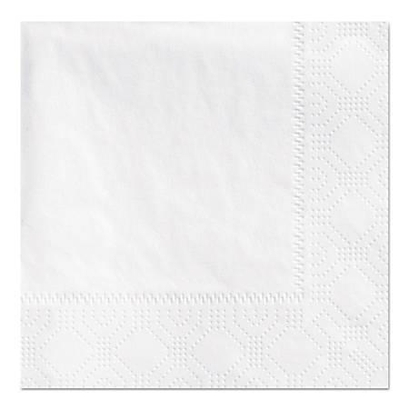 Hoffmaster® Embossed 2-Ply Beverage Napkins, 9 1/2 x 9 1/2, White, Pack Of 1,000 Napkins