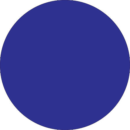 "Removable Round Color Inventory Labels, DL615B, 4"" Diameter, Dark Blue, Pack Of 500"