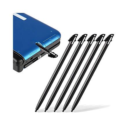 Insten 5-Piece Stylus For Nintendo 3DS XL, Black