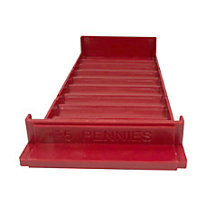 Control Group Coin Trays Pennies Red