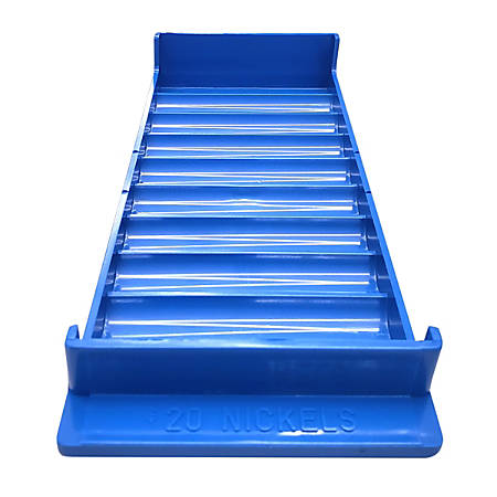 Control Group Coin Tray, Nickels, Blue, Pack Of 4 Trays