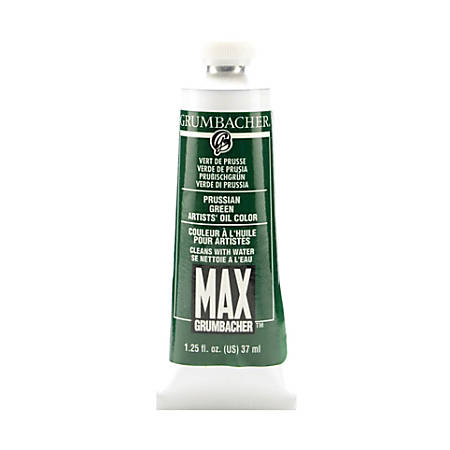 Grumbacher Max Water Miscible Oil Colors, 1.25 Oz, Prussian Green, Pack Of 2