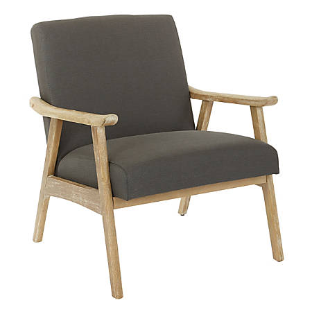 Ave Six Work Smart™ Weldon Chair, Klein Charcoal/Light Brown