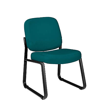 OFM Guest Reception Chair, Teal/Black