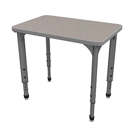 Marco Group Apex™ Series Adjustable Rectangle Student Desk, Gray Nebula/Gray