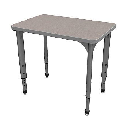 Marco Group Apex™ Series Adjustable Rectangle Student Desk, Gray Nebula/Gray