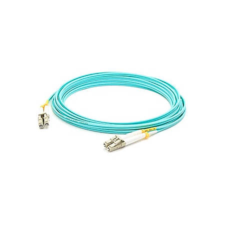 AddOn 15m HP AJ837A Compatible LC (Male) to LC (Male) Aqua OM3 Duplex Fiber OFNR (Riser-Rated) Patch Cable