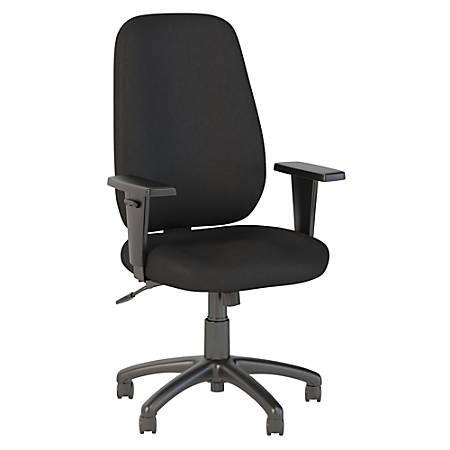 Bush Business Furniture Prosper High Back Task Chair, Black Fabric, Premium Installation