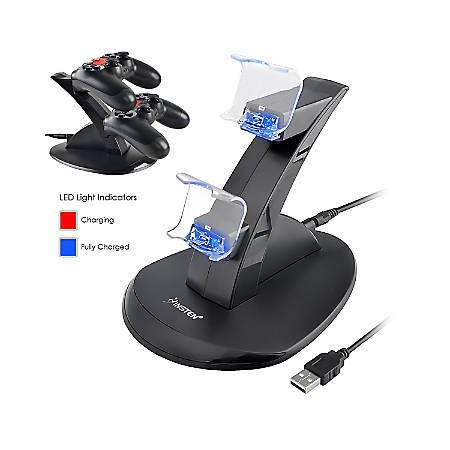 Insten Dual USB Charger Dock Station Stand With Charging Cable For Sony Playstation 4 PS4 Controller