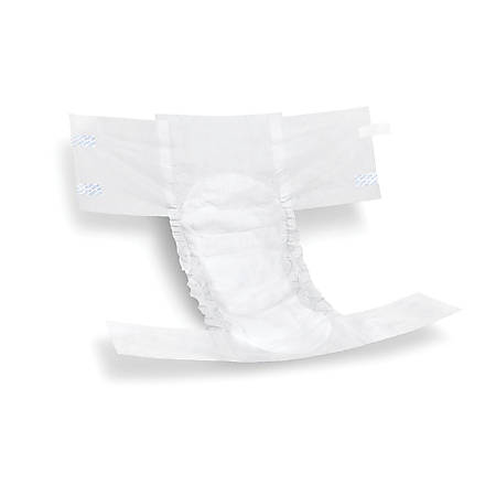 FitRight Extra Disposable Briefs, Medium, White, 20 Briefs Per Bag, Case Of 4 Bags