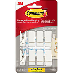 Command Quartz Spring Clips 3 lb