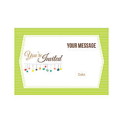 Flat Photo Greeting Card Green Stripes
