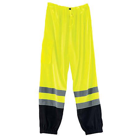 Ergodyne GloWear® 8910 Class E Polyester Hi-Vis Pants, Large/X-Large, Lime/Black