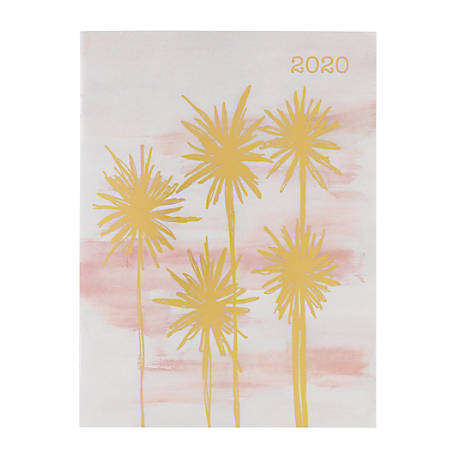 "Office Depot® Monthly Planner, 8-1/2"" x 6-3/8"", Palm Trees, January To December 2020, DD191019-002"