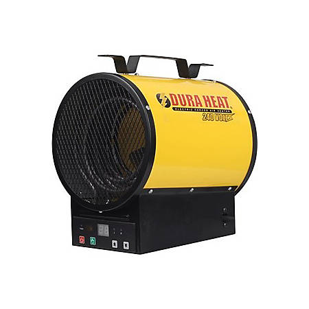 DuraHeat Electric Forced Air Heater - 240 Volt with Remote Control - Tubular - Electric - 3997.49 W to 4102.99 W - 500 Sq. ft. Coverage Area - 4000 W - 20 A - Portable - Yellow