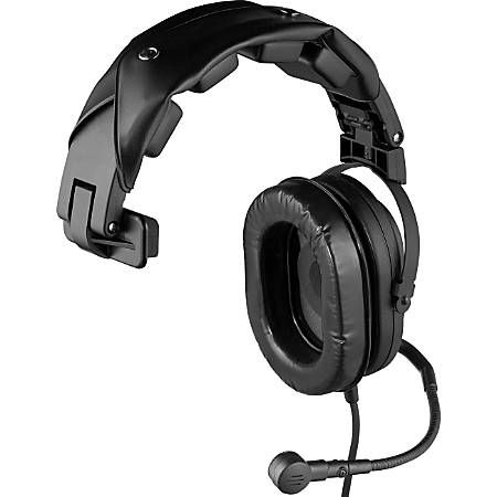 Telex HR-1 Single-Sided Headset with Flexible Dynamic Boom Mic - Mono - XLR - Wired - 300 Ohm - 100 Hz - 3 kHz - Over-the-head - Monaural - Circumaural - 4.92 ft Cable - Noise Cancelling Microphone - Black
