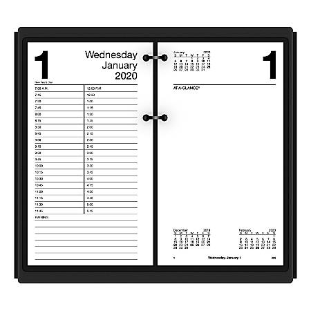 """AT-A-GLANCE® Daily Loose-Leaf Desk Calendar Refills, 4-1/2"""" x 8"""", January To December 2020, E21050"""