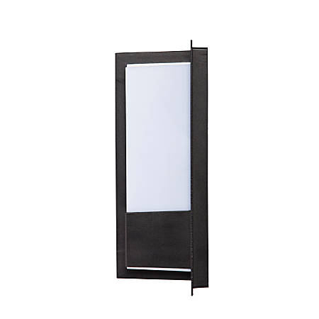"""Southern Enterprises Byron Indoor/Outdoor LED Wall Sconce, 12-3/4""""H, White Shade/Black Base"""