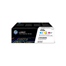 HP 410A CF251AM Cyan Magenta and