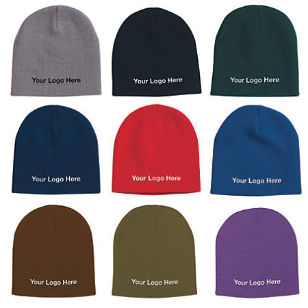 Hit Promotional Products Embroidered Knit Beanie