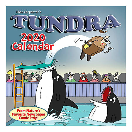 "Willow Creek Press Humor & Comics Monthly Wall Calendar, 12"" x 12"", Tundra, January To December 2020"