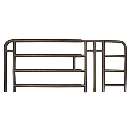 Medline Full Rails For Home Care Beds, 4-Bar, Brown, Pair Of 2