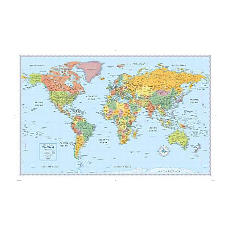 Rand McNally Signature World Wall Map by fice Depot & ficeMax