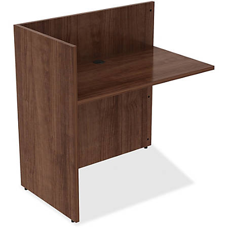 "Lorell® Essentials Series Reception Desk Return, 42""W x 24""D, Walnut"