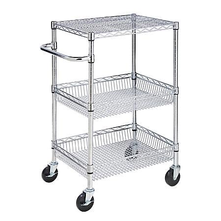 Honey-Can-Do CRT-01451 3-tier Urban Utility Cart, Chrome