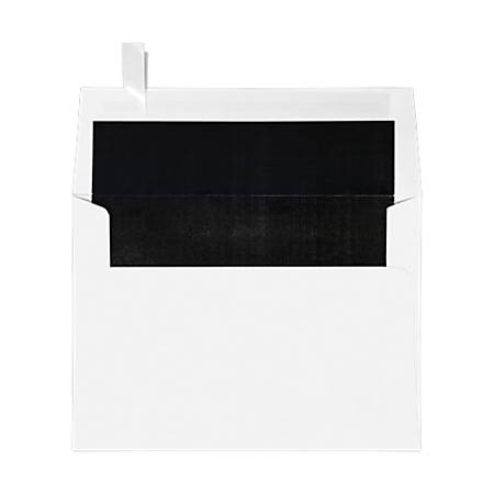 """LUX Invitation Envelopes With Peel & Press Closure, A7, 5 1/4"""" x 7 1/4"""", Black/White, Pack Of 1,000"""