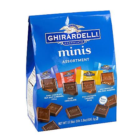 Ghirardelli® Assorted Chocolate Minis, 17.4-Oz Bag