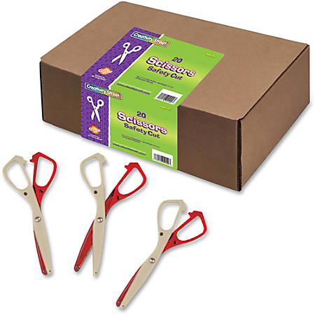 "Creativity Street Safety Cut Scissors Classpack - 5.5"" Overall Length - Left/Right - Aluminum - Blunted Tip - Assorted - 20 / Set"