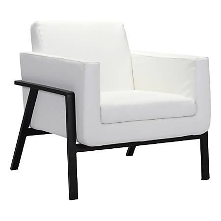 Zuo Modern Homestead Lounge Chair, White/Black