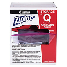 Ziploc Storage Bags 1 Quart Box