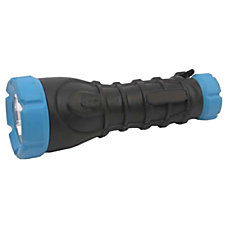 Dorcy Flashlight AA RubberBody Black Assorted