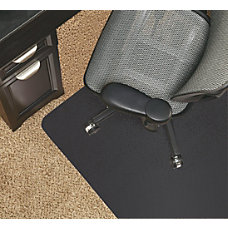 Realspace Black Vinyl Chair Mat For