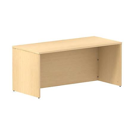 "Bush Business Furniture 300 Series Desk, 66""W, Natural Maple, Standard Delivery"