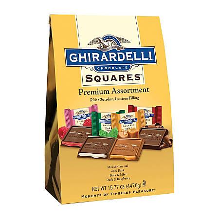 Ghirardelli® Chocolate Squares, Premium Assortment, 15.77 Oz Bag