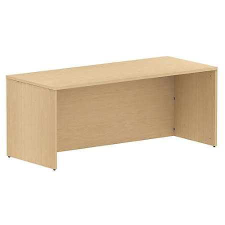 "Bush Business Furniture 300 Series Desk, 72""W, Natural Maple, Premium Installation"