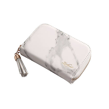 Zodaca Business ID Credit Card Holder Pocket Wallet, White Marble