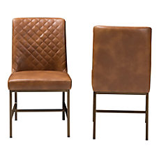 Baxton Studio Mael Faux Leather Chairs